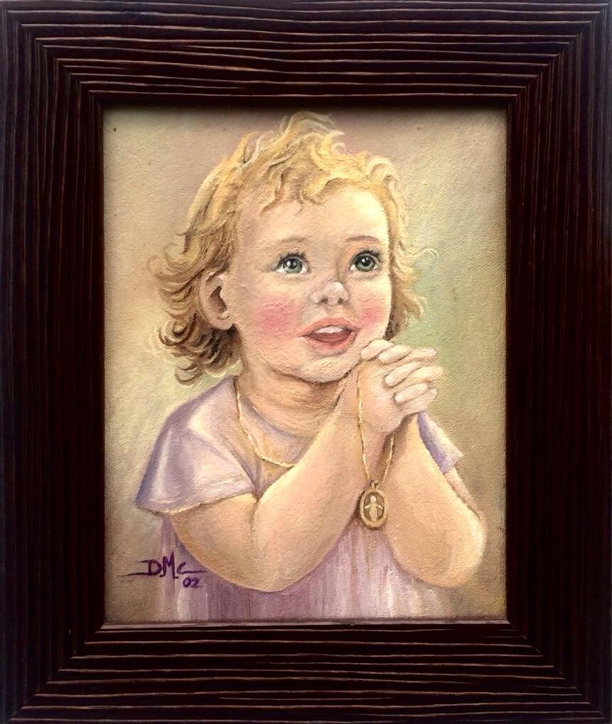 El niño. Pintura de David Marcelo