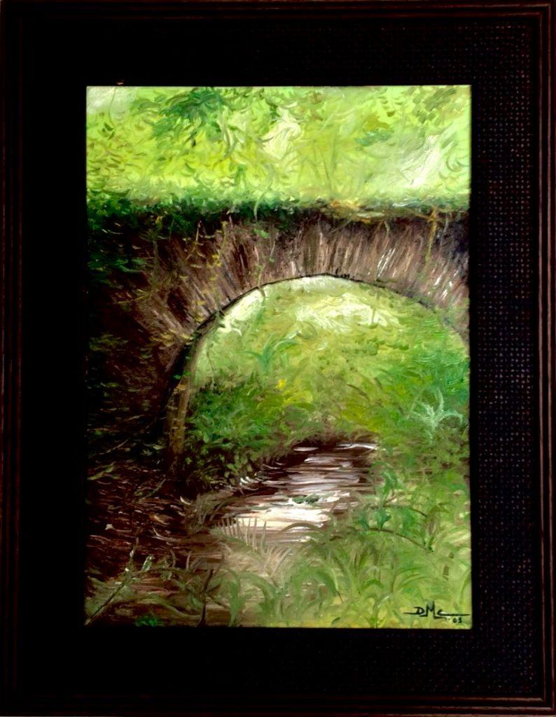Pintura de David Marcelo de un puente