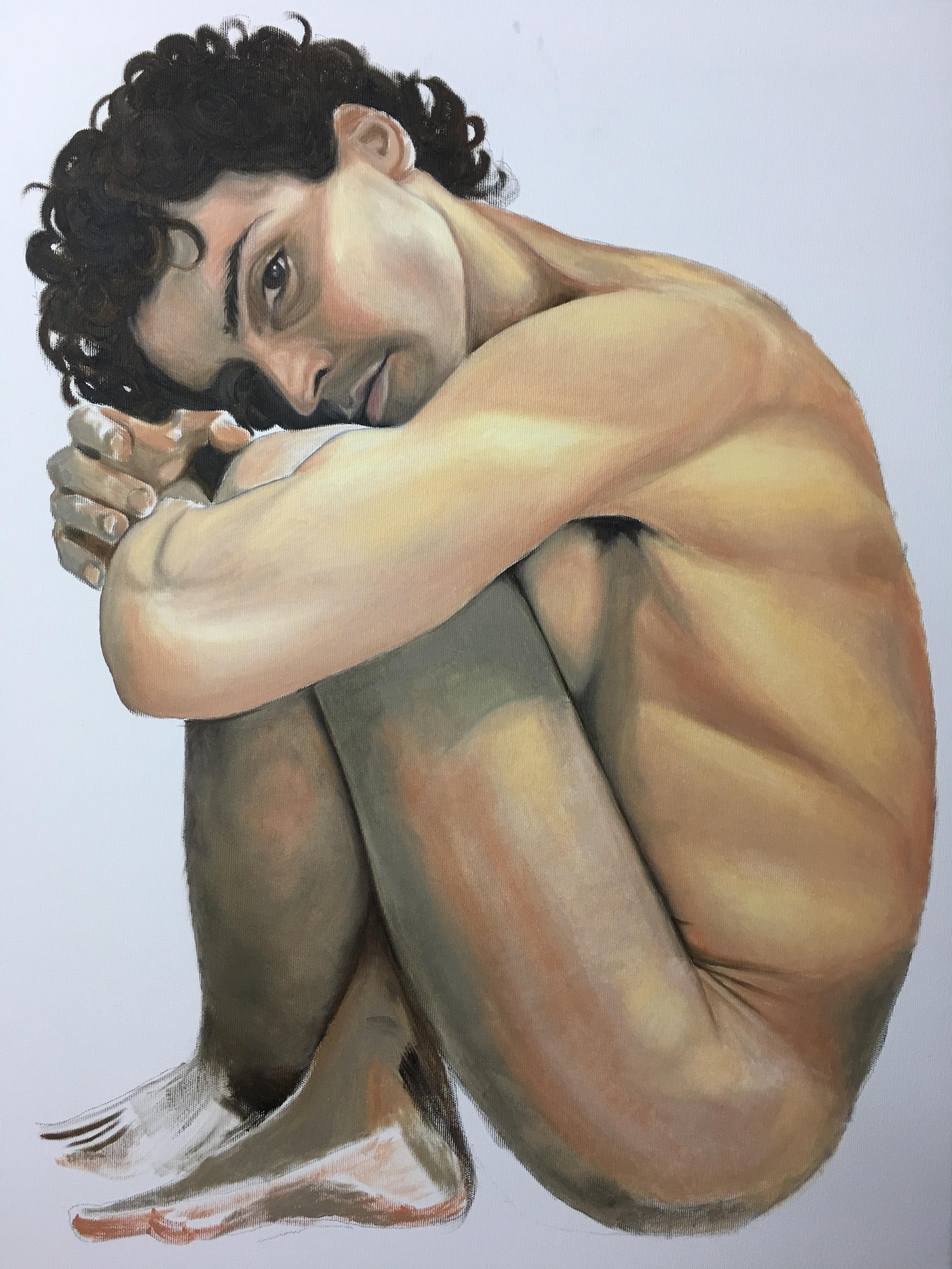 Pintura de La Jaula. Autorretrato de David Marcelo