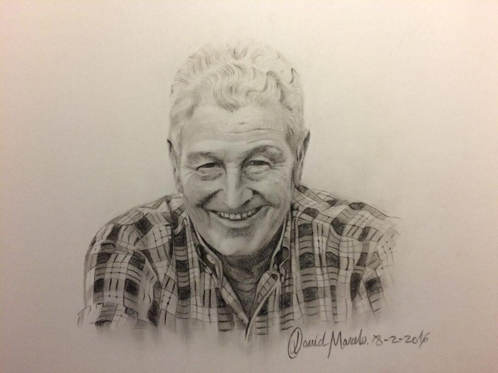 Papá. Pintura de David Marcelo