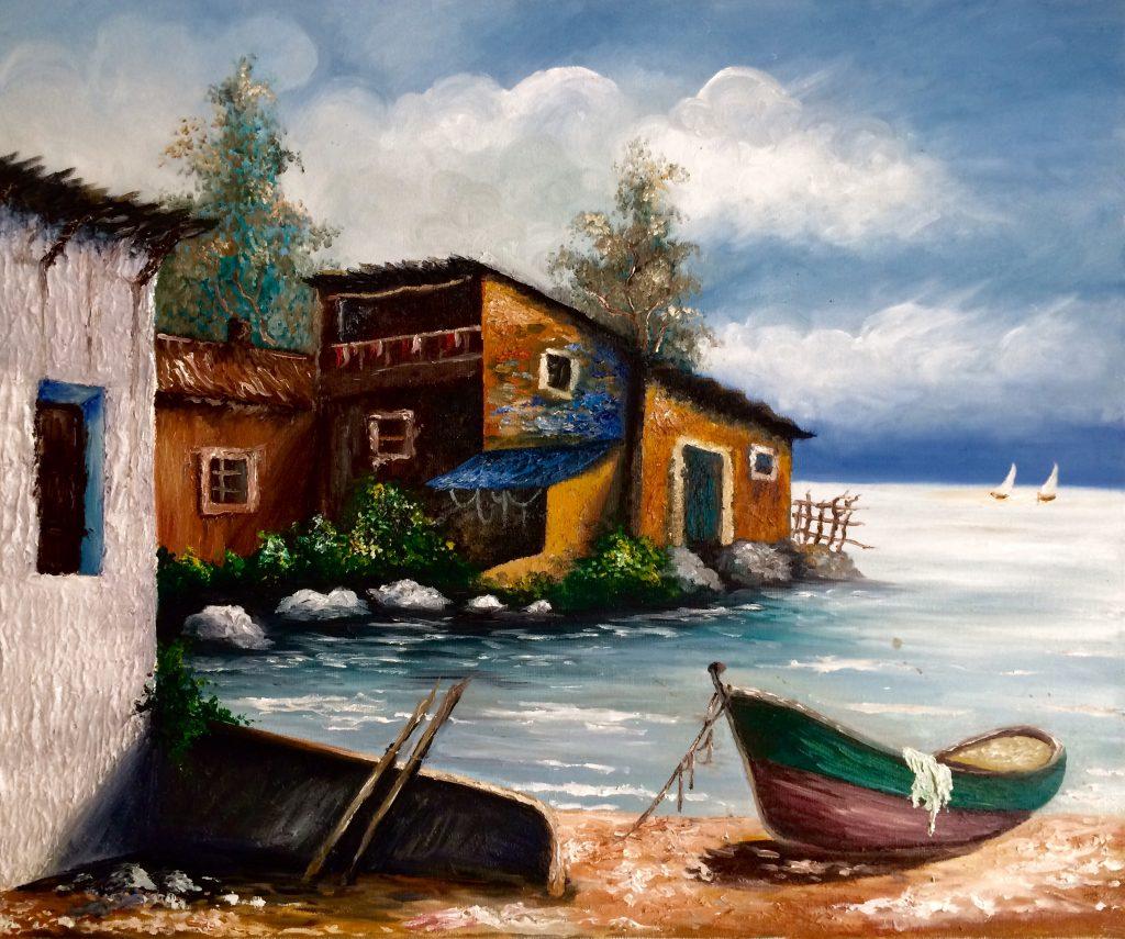 Pintura de David Marcelo de un lugar