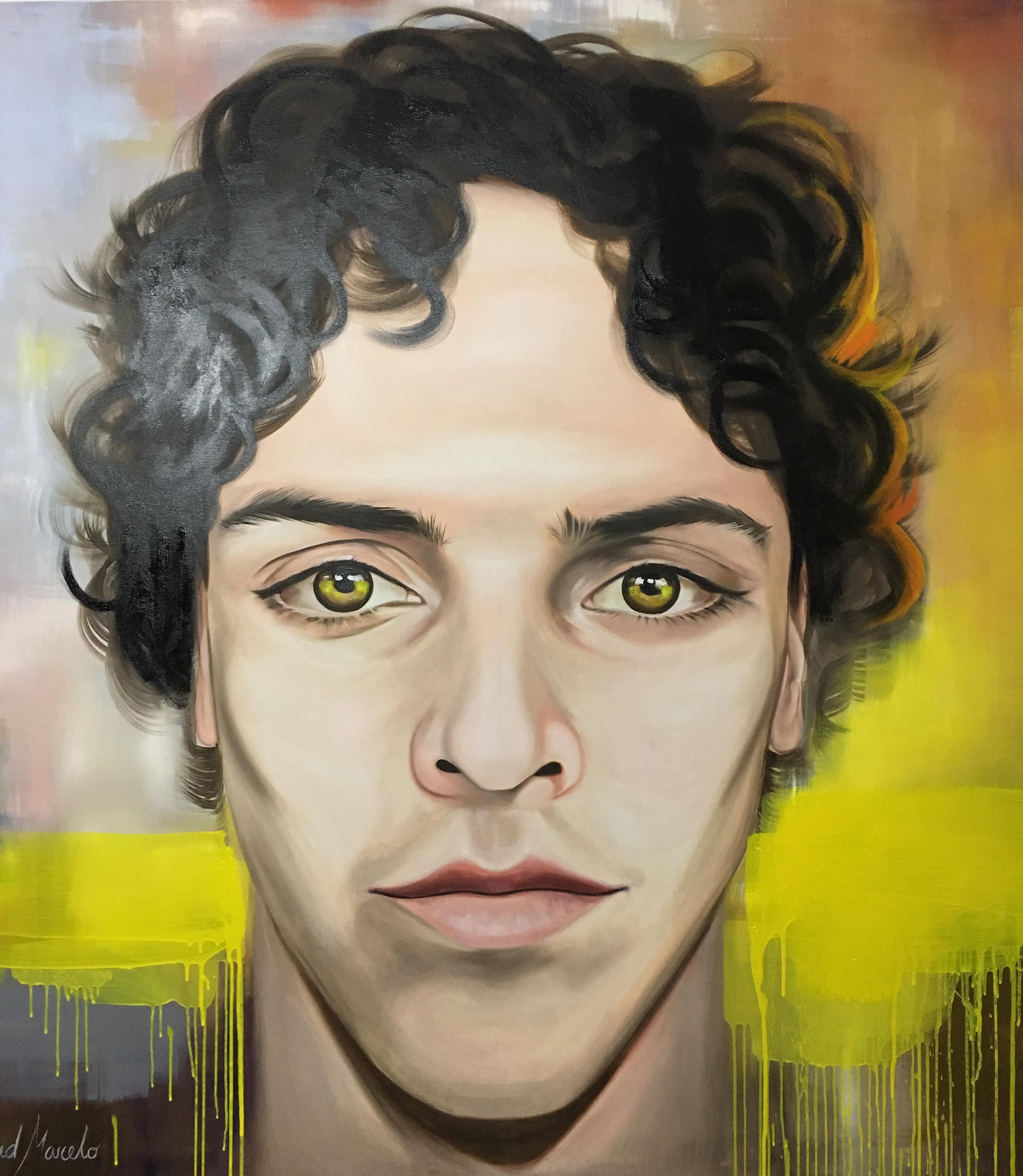 Pintura de Horizonte. Autorretrato de David Marcelo