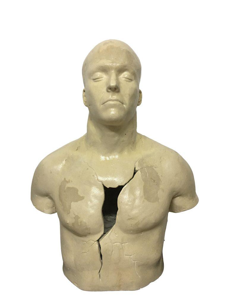 Escultura de David Marcelo de La brecha