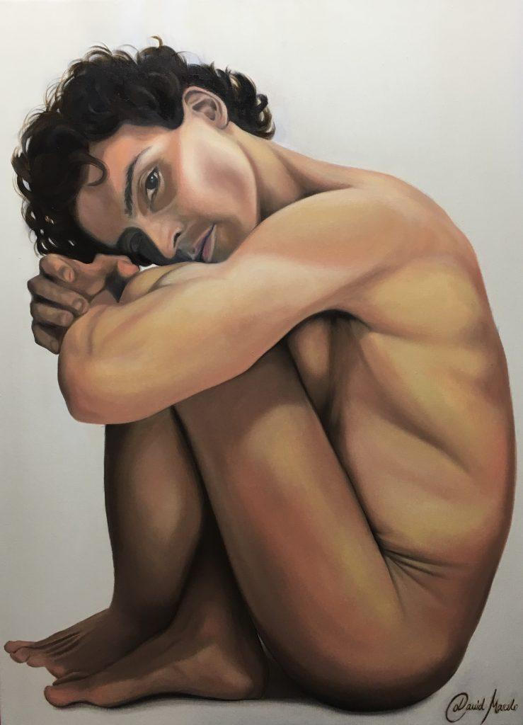 Pintura de La Jaula Abierta 2.0. Autorretrato de David Marcelo