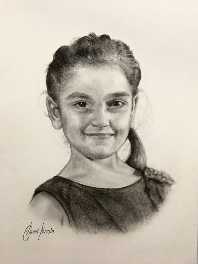 Marta. Pintura de David Marcelo